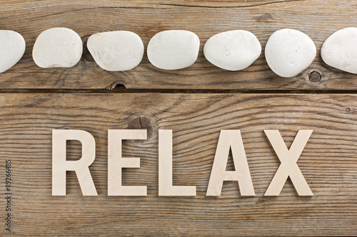 canvas print picture Pannello sassi relax