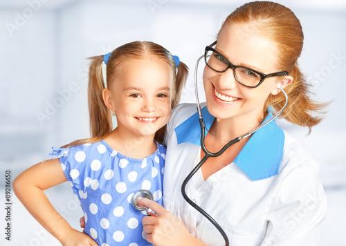Fototapeta Doctor pediatrician and child patient