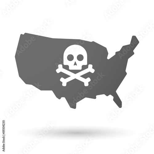 GamesAgeddon - USA map icon with a skull - Lizenzfreie Fotos ...