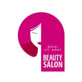 Beauty salon vector logo design template. Girl, woman or hair