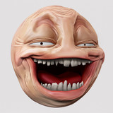 Hyper troll 3d illustration poster