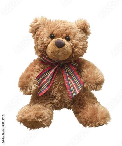 obraz PCV Teddy bear isolated on white bacground