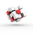 Cube / Blocks / Concept / 3d