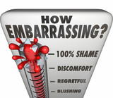 How Embarrassing Thermometer Measure Shame Discomfort poster