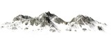 Fototapety  Snowy Mountains - Mountain Peak - separated on white background