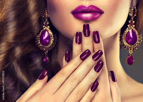 Luxury fashion style, manicure nail , cosmetics and make-up Poster