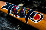 Indigenous Australian art on Didgeridoo