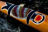 Indigenous Australian art on Didgeridoo