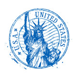 Fototapety USA vector logo design template. United States or statue of