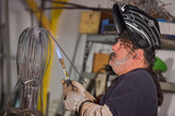 Blowtorch worker-Metal worker in workshop poster