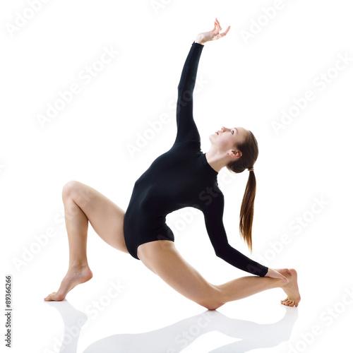Plexiglas Dancing girl, over white