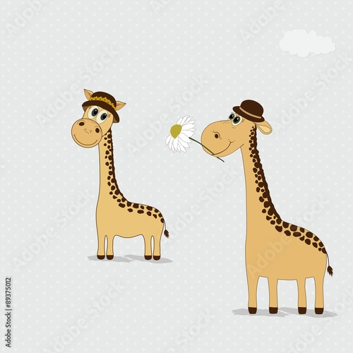 Two cute giraffes hats - 89375012
