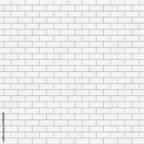 Vector modern seamless white brick background. - 89389209