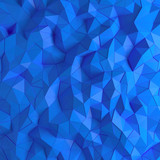 Abstract blue 3D geometric polygon facet background mosaic made by edgy triangles