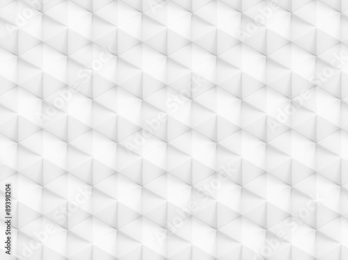 Fotobehang 3d Achtergrond Abstract white polygonal 3D seamless pattern - facet geometric structure background