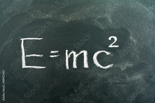 E=mc2,Albert Einstein,chalkboard,chalk,blackboard,colored chalk Poster