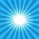 Fototapety Ray blue background sun