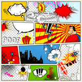 Fototapety Comics Template. Vector Retro Comic Book Speech Bubbles