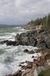 Rocky shoreline in Acadia National Park.coastal Maine