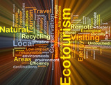 Ecotourism background concept glowing poster