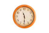 Isolated clock showing 11:30 o