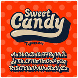 Fototapety Sweet Candy font
