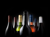multi bottles black - Stock Image