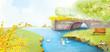 Leinwanddruck Bild - Illustration of beautiful nature