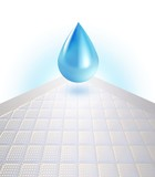3d disposable bed sheet with blue water drop