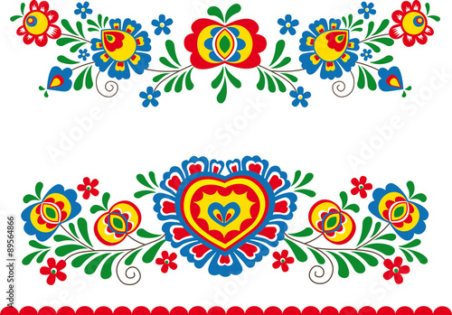 obraz PCV Folk ornaments