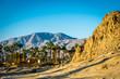 Sunrise on desert mountain, La Quinta, California
