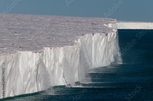 Water running off the arctic ice shelf.