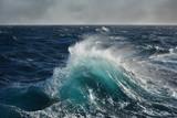 sea wave in the atlantic ocean during storm - 89588452