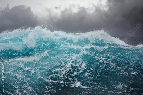 sea wave in the atlantic ocean during storm