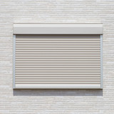 White metal roller door shutter background and texture . - 89591052