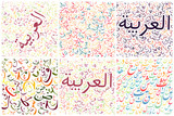 arabic alphabet background textures