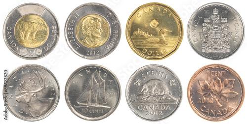Poster circulating Canadian Dollar coins