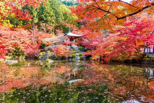 Panel Szklany Autumn at daigoji temple