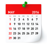 May 2016 - Calendar.