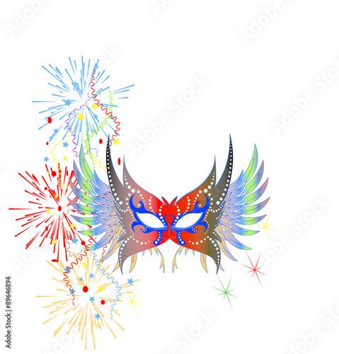 Papiers peints Carnaval Maschera con coriandoli