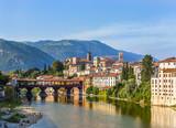 Fototapety Old bridge in Bassano del grappa in Italy