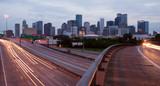 Houston Texas Downtown City Skyline Urban Landscape Highway Over - 89659679
