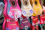 Fototapety Background of colorful mexican guitars
