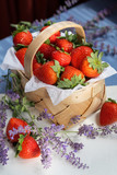 A Basket with Strawberries