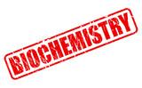 BIOCHEMISTRY red stamp text poster