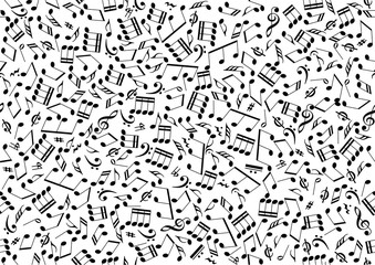 Seamless background of notes