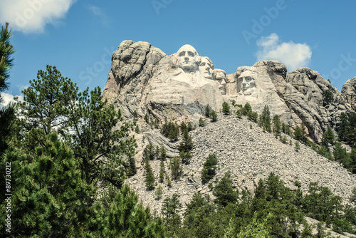 The United States' forefathers overlook the Black Hills Poster