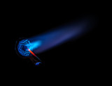 Blowtorch with the blue flame poster