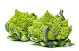 Two Green Fresh Romanesque Cauliflower