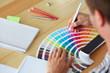 Graphic designer choosing a color